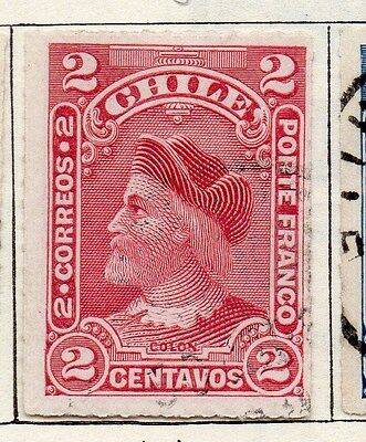 Chile 1900 Early Issue Fine Used 2c. 119441