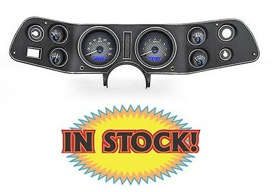 Dakota Digital 1970-81 Camaro Gauge Kit Carbon/Blue VHX-70C-CAM-C-B
