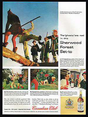 1957 Canadian Club Whisky Robin Hood Ancient Order Of Foresters Sherwood Ad