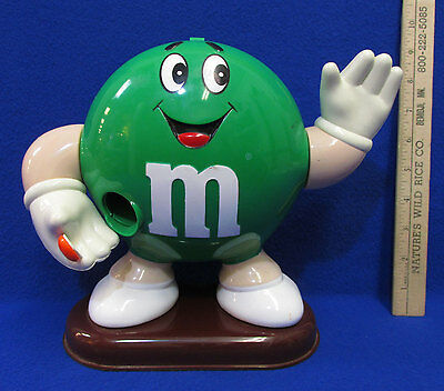 Vintage M & M Candy Dispenser Green Character Mars Candy Corporation 1992