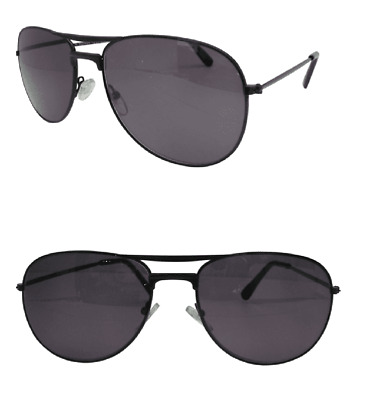 Sun Readers Designer Jet Black Aviator Pilot UV Tinted Reading Glasses 606