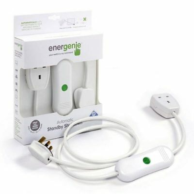 New Energenie Automatic Standby Shut Off Shutdown Power Saver Socket