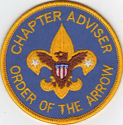 OA Chapter Advisor Position Patch, Clear Backing, Mint!