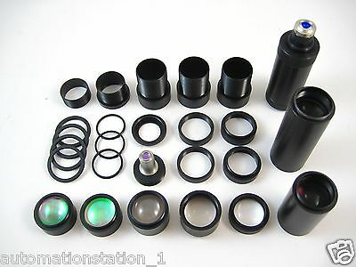 New Focus + more assorted lenses (aspheric + more), extension tubes, spacers +