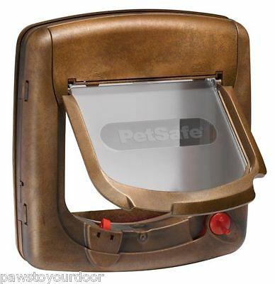 Staywell Petsafe magnetic cat flap / pet door 420 upvc door catflap 420 Brown