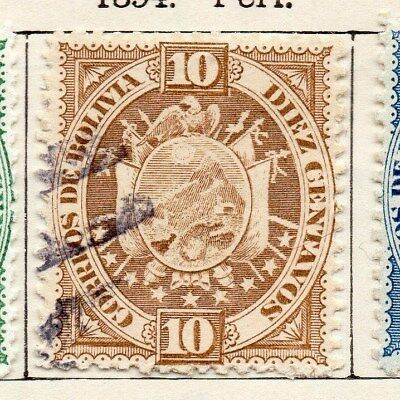 Bolivia 1894 Early Issue Fine Used 10c. 119539