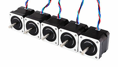 DE Ship 5pcs Nema 17 Stepper Motor 59Ncm(84oz.in) Bipolar 4-lead 3D Printer CNC