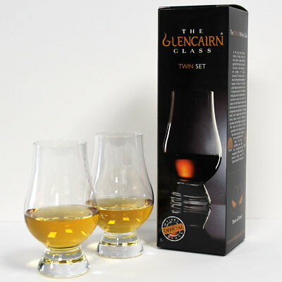 The Glencairn Official Whisky Nosing Glass - Set of 2 (Twin Pack, Gift Carton)