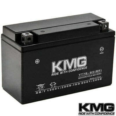 12 Volt Sealed Maintenace Free Performance Powersport Battery by KMG - YT7B-BS