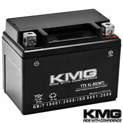 12V Battery KMG Motorcycle Scooter ATV Snowmobile Mowers PWC Watercraft YTX4L-BS