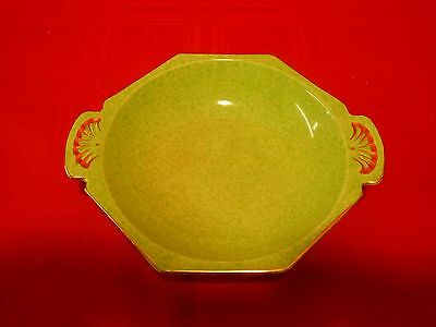 ROYAL WINTON GRIMWADES DISH GREEN WITH GOLD TRIM VERY PRETTY IN EXCELLENT COND.