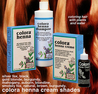 Colora Henna Creme Organic Hair Color 2oz. - CHOOSE YOUR COLOR