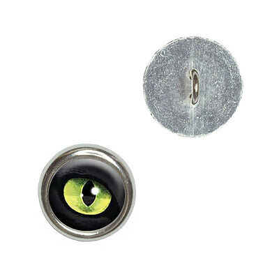 Cat Green Eye - Metal Craft Sewing Novelty Buttons Set of 4