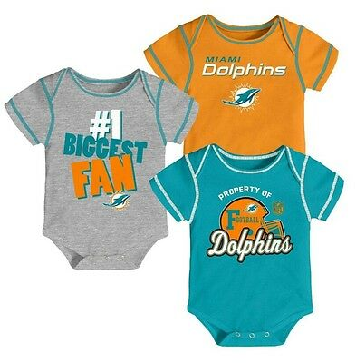 b95298d3 MIAMI DOLPHINS NFL Infant Baby Girl Pink Onesie 18 mo - $12.95 ...