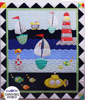 Ship to Shore - applique & pieced quilt PATTERN - Claire Turpin