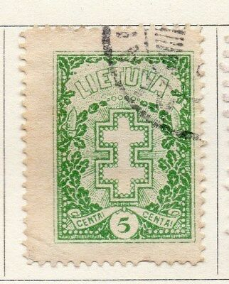 Lithuania 1927 Early Issue Fine Used 5c. 118627