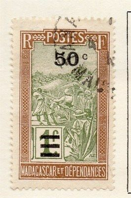 Madagascar and Dependencies 1928 Early Issue Fine Used 50c. Surcharged 118879
