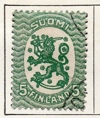 Finland 1918 Early Issue Fine Used 5p. 119666