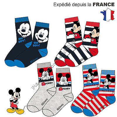 Chaussette Enfant MICKEY MOUSE Lot de 3, 6, 9 Paires Assortie NH4917 !!!