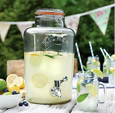 New Kilner Glass Drinks Dispenser 5L For Beverages ideal for party's & barbecue