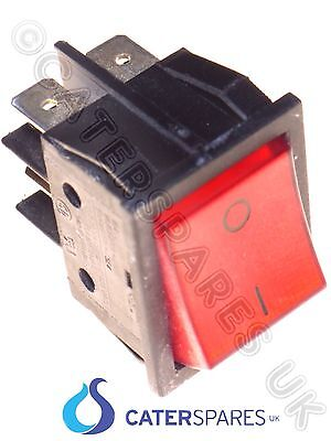 16 Amp Red Rocker Switch Power On Off Double Pole 4 Pin 22X31Mm 230V Part