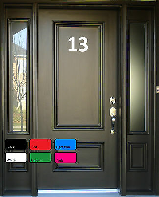 House Office Sign Door Numbers Letters Self Adhesive Vinyl Decals Sticker