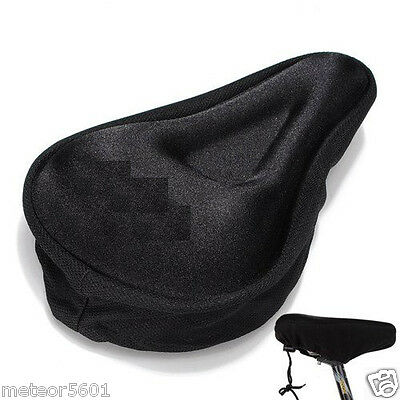 Black Comfortable Durable Bike Bicycle Seat Cover Cushion Soft Gel Saddle