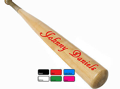 2 X PERSONALISED BASEBALL CRICKET BATS Art NAME STICKER Decals Recognise Sticker
