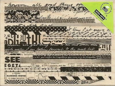 """Hero Arts Mounted Rubber Stamps 4.25""""X3.25"""" ~ Pattern Stripes. DISCONTINUED!"""