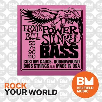 Ernie Ball 2831 Power Slinky Bass Guitar Strings 55-110 .055-.110 Roundwound