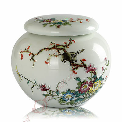 240ml Chinese JingDe Supreme Porcelain chrysanthemum ball Tea Canisters Caddy