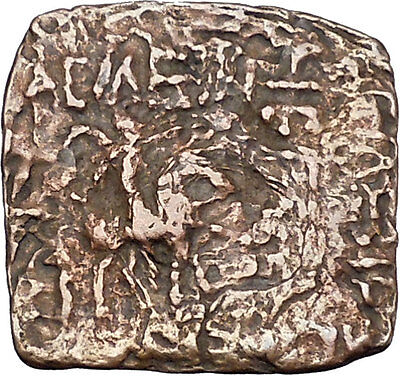 AZILISES 85BC INDO SKYTHIAN King on Horse Bull Ancient Greek Coin India i47057