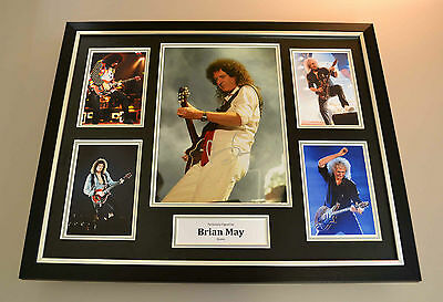 Brian May Signed Photo Large Framed Display Queen Autograph Memorabilia + COA