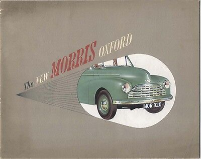 Morris Oxford MO Saloon 1948-49 Original UK Market Sales Brochure Pub. No. 26/4