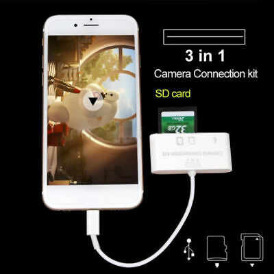 5 IN 1 USB CAMERA CONNECTION KIT SD TfMMC CARD READER FOR IPAD/4/MINI/Air Retina