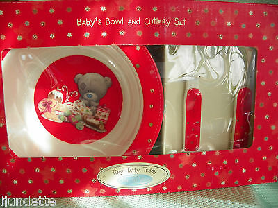 Me To You Tiny Tatty Teddy * BOL ET COUVERTS  NOEL *  premiers repas