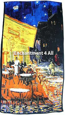 Art Silk Oblong Scarf w/ Van Gogh Cafe Terrace at Night