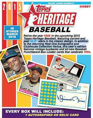 2015 Topps Heritage Base Set 1-425 PRE SALE FREE SHIPPING Release Mar 4
