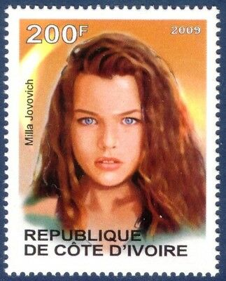 Milla Jovovich Famous People MNH stamp