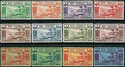 British New Hebrides 1938 Sc#50-61 Beach Scene, MNH** Complete Set