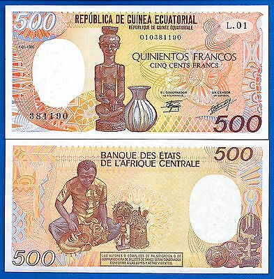 Equatorial Guinea P-20 500 Francs Year 1.1.1985 Uncirculated Banknote Africa