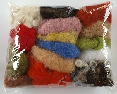 75g / 2.63 oz Bag Of Italian Carded / Batting Wool - Mixed 15 Colours – Needle F