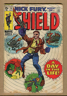 Nick Fury #14 - 15 Cent Issue's Begin! - 1969 (Grade 8.0) WH
