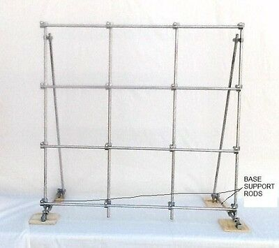"Lab Frame, Rotocon Brz33, 1/2"" Solid 304 S/s Rods"