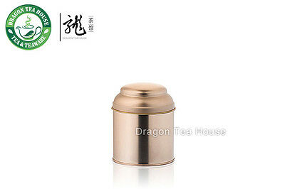 Rose Gold Color Double Lid Tea Tin Metal Canister Coffee Can 190ml 6oz (S)