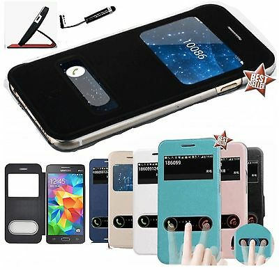 CUSTODIA MAGNETICA COVER FLIP VIEW LIBRO per SAMSUNG GALAXY GRAND PRIME G530 PEN