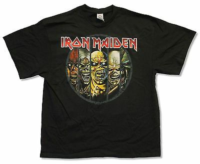 Iron Maiden Ed 5 Faces Evolution Black T-Shirt New Official Band Adult