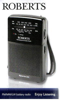 Roberts Sports 925 FM/MW/LW Portable 3 Band Battery Radio BRAND NEW