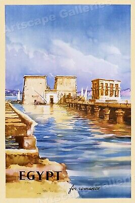 Luxor and Aswan 1931 Vintage Travel Poster Egypt Cruises for Cairo
