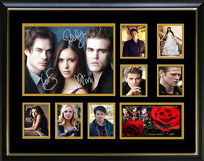 New Vampire Diaries Signed Framed Memorabilia